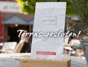 Terras blijft gesloten
