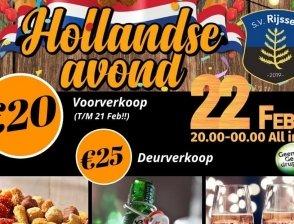 Hollandse Avond 22 februari