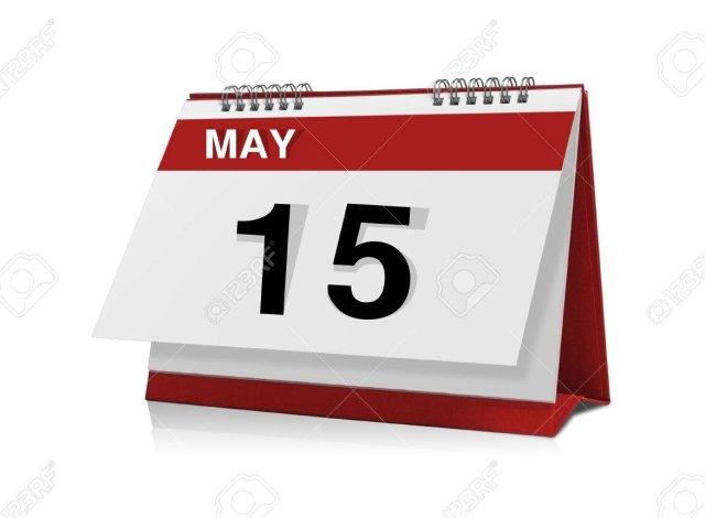 Afmelden voor 15 mei